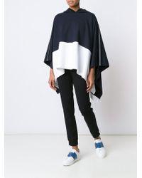 Callens - Hooded Colour Block Cape - Lyst