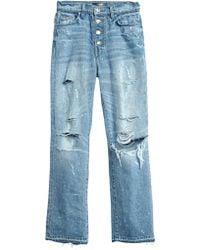 Amiri - Crystal Studded Straight Jean - Lyst
