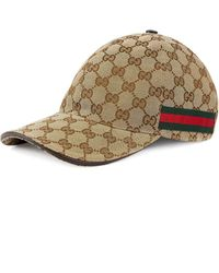 Gucci - Beige Original GG Canvas Baseball Hat With Web - Lyst