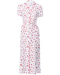 Harley Viera-Newton - Cherry Long Maria Dress - Lyst