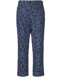 Julien David Floral Cropped Pants