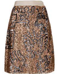 COACH - Embellished Skirt - Lyst