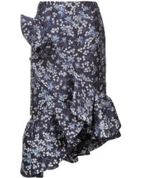 Johanna Ortiz - Ruffle Detail Floral Print Skirt - Lyst