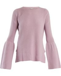 Stella McCartney | Flare-sleeved Wool Sweater | Lyst