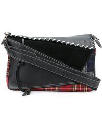 Loewe - Puzzle Xi Tartan Bag - Lyst