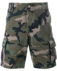 Valentino Camouflage Cargo Shorts - Green