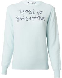 """Lingua Franca - Blue """"word To Your Mother"""" Sweater - Lyst"""