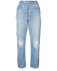 RE/DONE - High Rise Relaxed Crop Jeans - Lyst