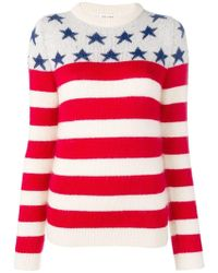 Saint Laurent Stars And Stripes Jumper - Red