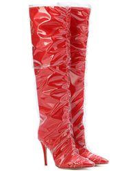 Off-White c/o Virgil Abloh - X Jimmy Choo Elisabeth Red High Boots - Lyst