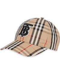 Burberry Monogram Motif Vintage Check Baseball Cap - Multicolour