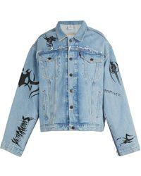 Vetements X Levi's Print Oversized Denim Jacket - Blue
