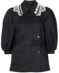 Simone Rocha - Double-breasted Belted Coat - Lyst