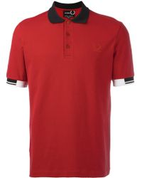 Fred Perry - Tipped Cuff Polo Shirt - Lyst