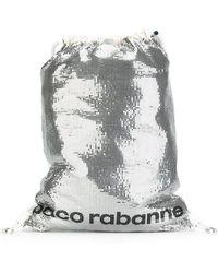 Paco Rabanne Sequin Embellished Backpack - Metallic