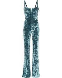 Galvan London - Solstice Velvet Jumpsuit - Lyst