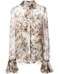 Adam Lippes Floral Print Shirt - Multicolour