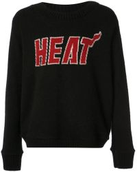 The Elder Statesman Miami Heat Miami Heat Jumper - Black