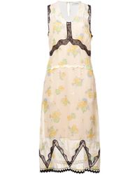 COACH - Forest Floral Print Sleeveless Dress - Lyst