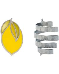 Jacquemus - Yellow And Grey Citron Spring Earrings - Lyst