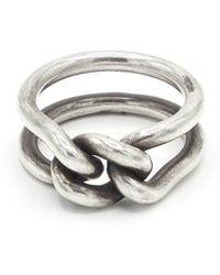M. Cohen 3mm Curb Band Ring - Metallic