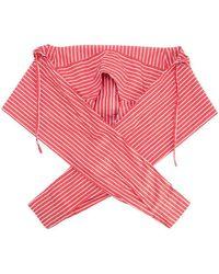 Balenciaga Striped Scarf Red