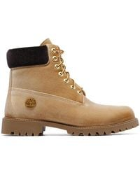 Off-White c/o Virgil Abloh - X Timberland '6inch' Velour Boots - Lyst