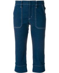 Chloé Chloé Cropped High-rise Slim-leg Jeans Mid Denim - Blue