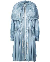 CALVIN KLEIN 205W39NYC Drawstring Midi Coat - Blue