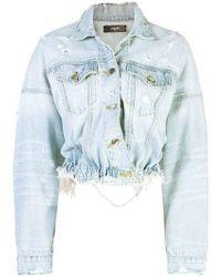 Amiri Cropped Denim Jacket - Blue
