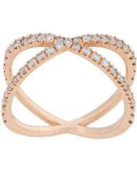 Eva Fehren - Shorty Ring 18kt Rose Gold - Lyst