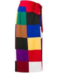 Sara Battaglia Color Block Skirt - Multicolor