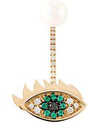 Delfina Delettrez - 'eyes On Me Piercing' Emerald And Diamond Earring - Lyst