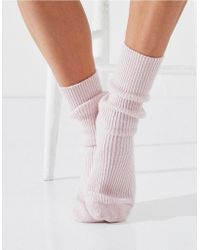 The White Company Cashmere Bed Socks - Pink