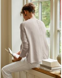 The White Company Button-back Sweater With Cashmere - Multicolor