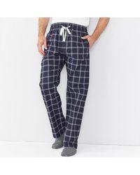 The White Company Men's Navy Check Pajama Bottoms - Blue