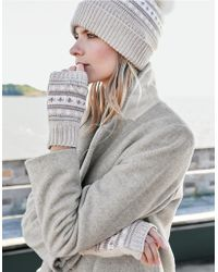 The White Company - Fair-isle Wrist Warmers With Cashmere - Lyst
