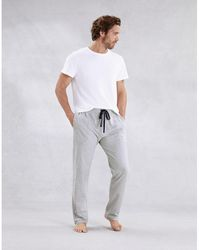 The White Company Men's Cotton Jersey Pajama Bottoms - Gray