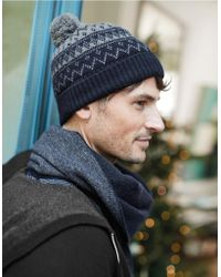 The White Company - Men's Wool-cashmere Fair Isle Hat - Lyst