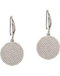 The White Company - Silver Plated Pave Disc Earrings - Lyst