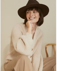 The White Company Christys' Wool Felt Fedora Hat - Brown