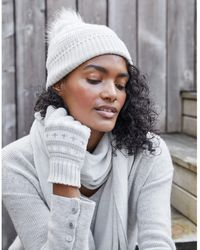 The White Company Fair Isle Hat & Gloves Gift Set - Gray