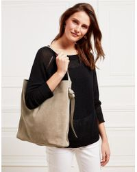 The White Company - Suede Knot Side Shopper Bag - Lyst