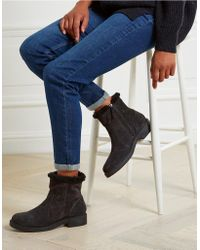 The White Company - Suede Faux-fur Boots - Lyst