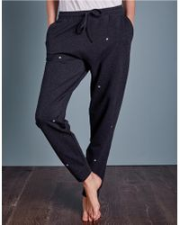 The White Company - Star Embroidered Joggers - Lyst