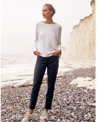 The White Company Organic-cotton Slim-leg Trousers - Multicolour