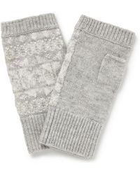 The White Company - Fair Isle Wrist Warmers - Lyst