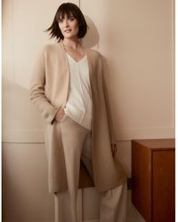 The White Company Coatigan With Cashmere - Natural