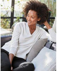The White Company Cotton-rich Pointelle Detail Jumper - Multicolour