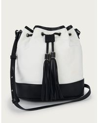 The White Company Canvas & Leather Bucket Bag - White